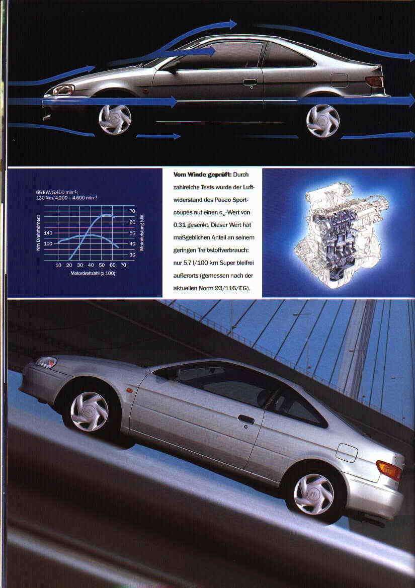 Toyota Paseo niedrogie coupe japońskie broszura 日本車
