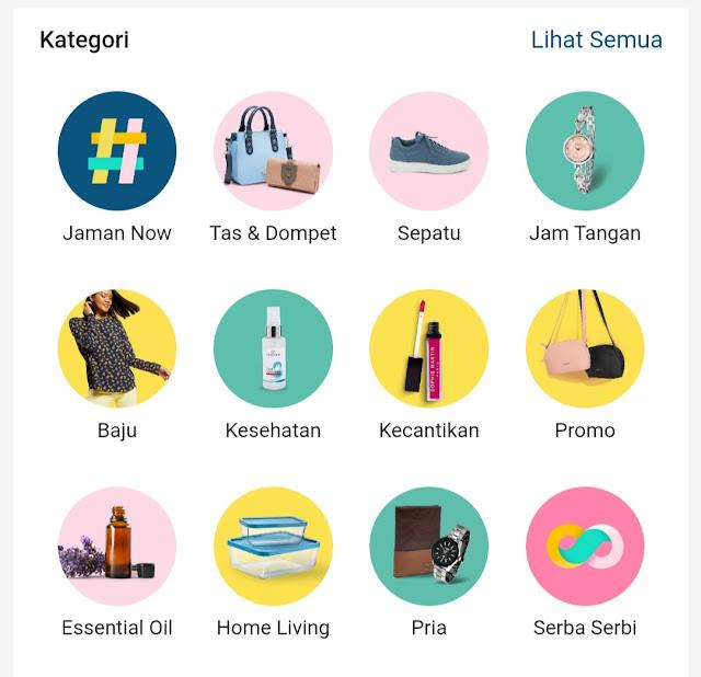 Aplikasi bisnis online shop kekinian