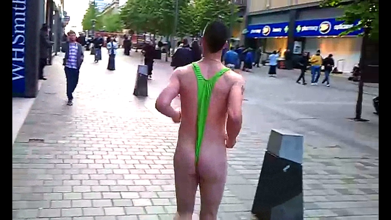 butt in borat mankini