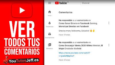 ver mis comentarios en youtube