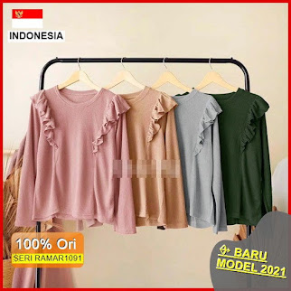 RAMAR1091 NEW SET CARISTA TOP BLOUSE BARU 2021