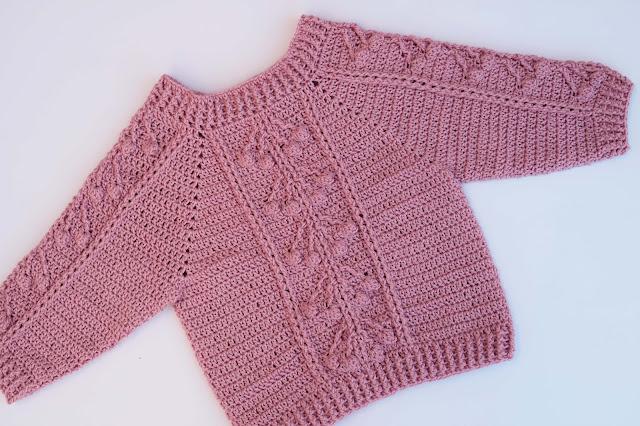 6 - Crochet Imagen Jersey con punto relieve especial invierno por Majovel Crochet