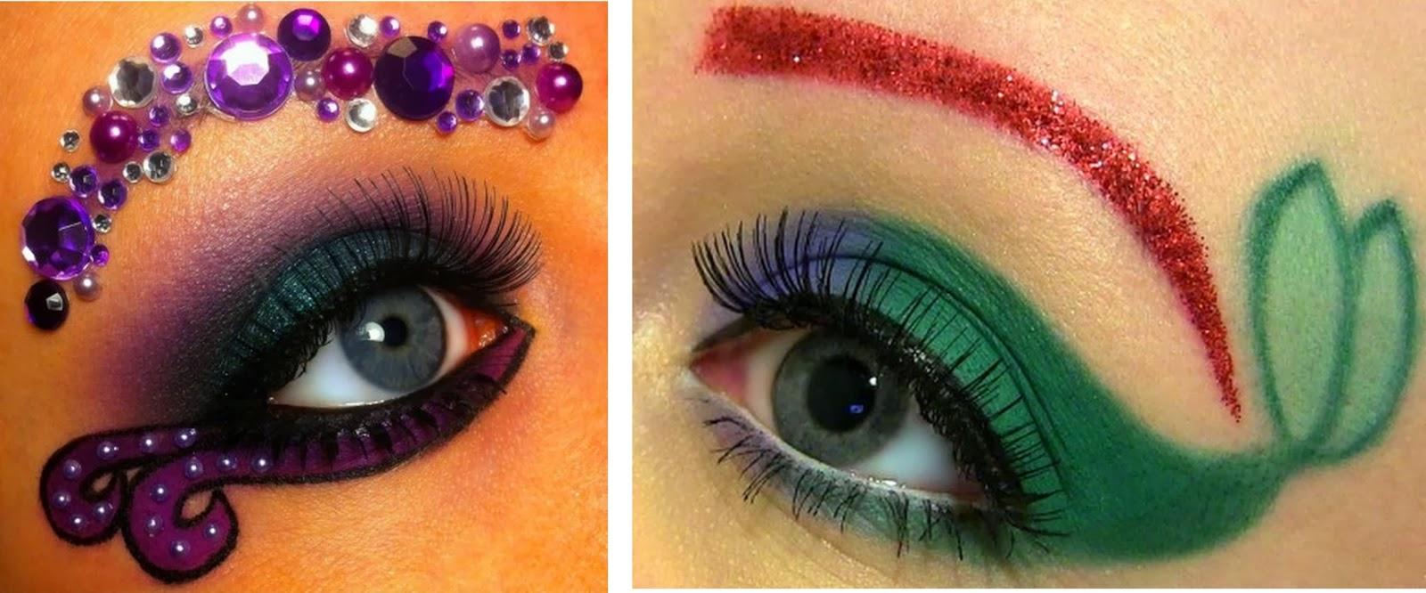 Maquillaje inspirado en la Sirenita y Úrsula. Tutorial.
