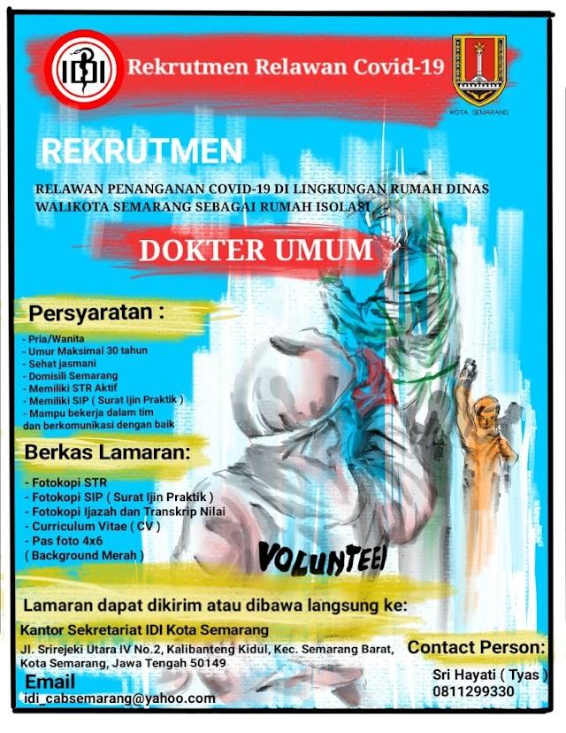 Rekrutmen Relawan Covid-19 Kota Semarang