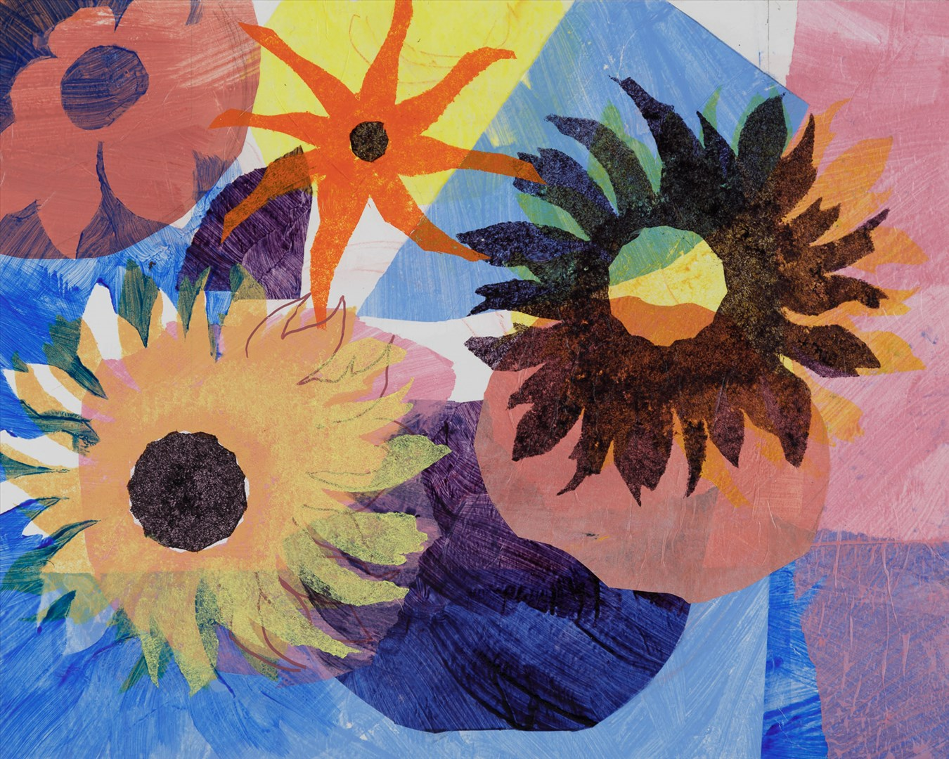 Rosemary Farrer - Flowers for Mondrian (mixed media) - Royal Academy Summer Exhibition 2021 - London lifestyle & culture blog