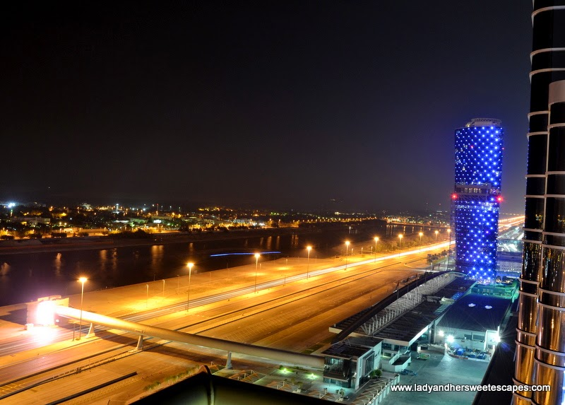 Capital Gate and the corniche