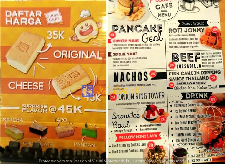 Makan Sambil Main Di  Pillow Cake Cafe Bandung