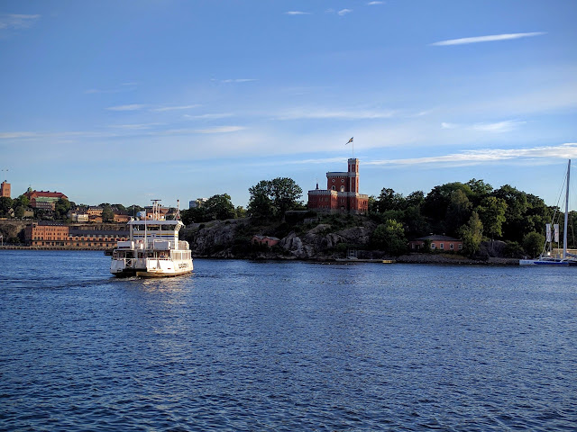 Ferry and Kastellet in Stockholm