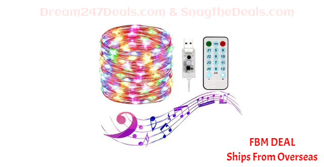 70%  off Fairy Lights Outdoor USB String Lights with Remote