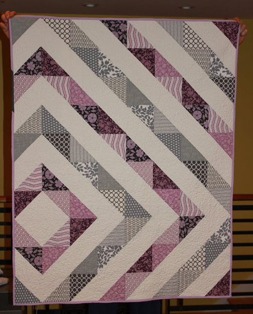 HST Girl Quilt Quilted by Lisa of Shinersview, The Tutorial by Rikka J of Ricochet & Away