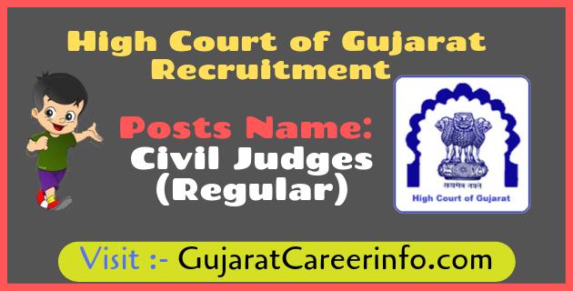 High Court of Gujarat Recruitment for 68 Civil Judges Posts 2019.