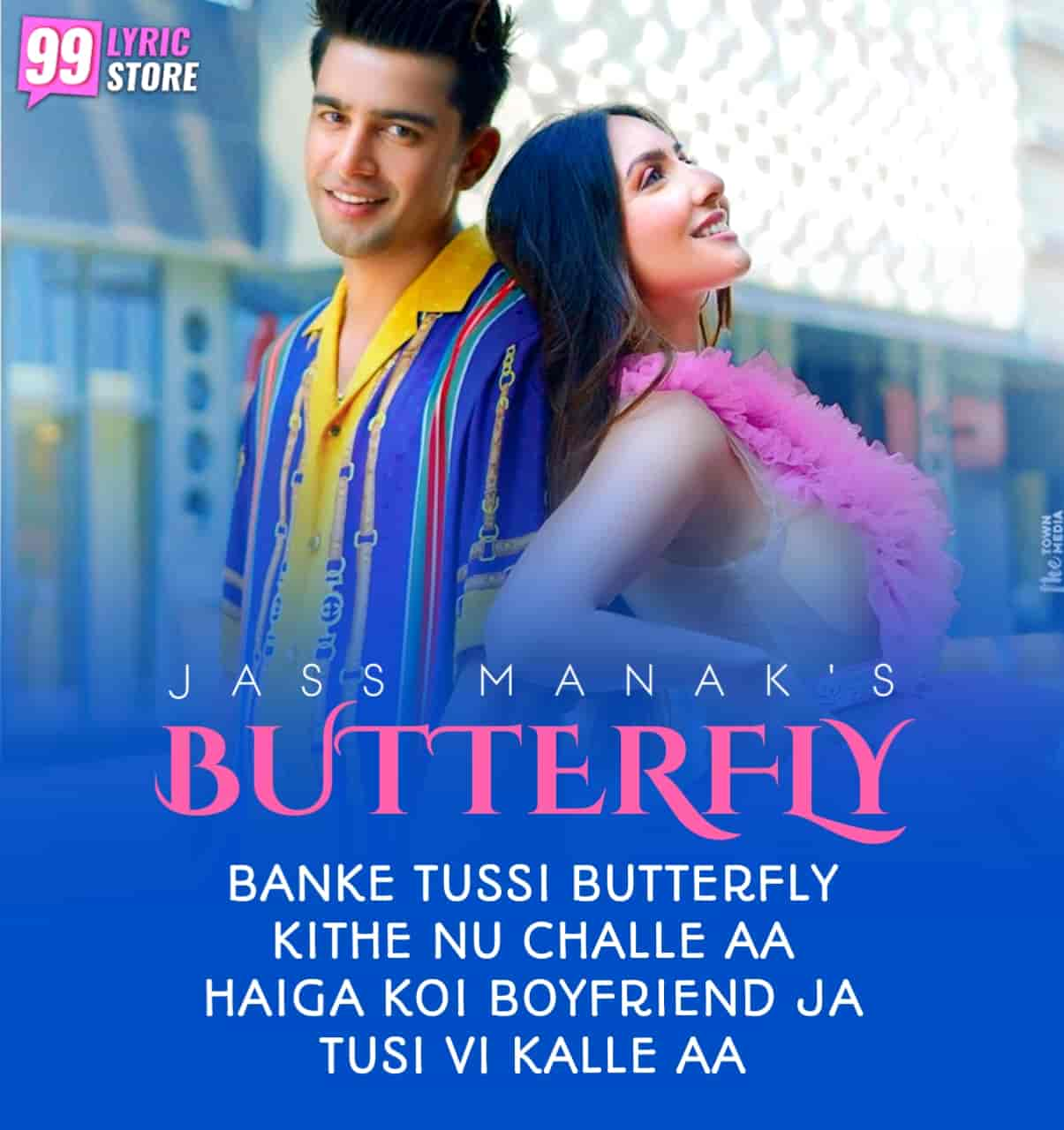 Banke Tussi Butterfly Punjabi Song Image Features Jass Manak