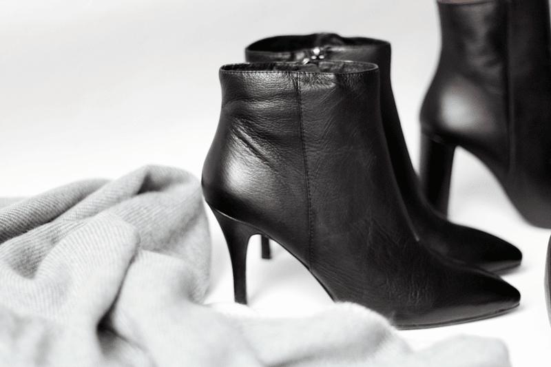 Daniel Black Leather Duada Women's Ankle Boot