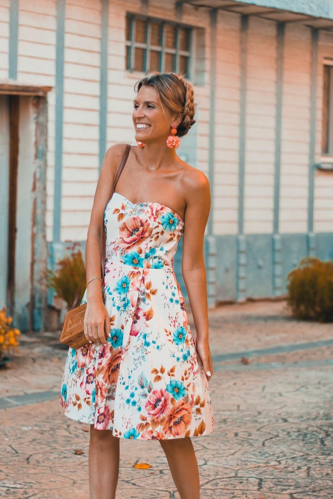 vestido flores NAF NAF