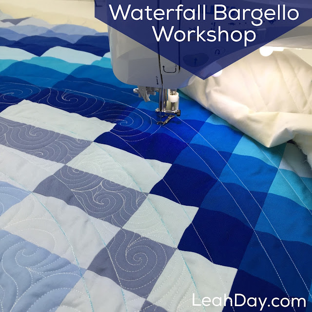 Waterfall Bargello Workshop - Online class with Leah Day