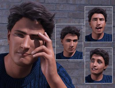 Big Drama Expressions for Genesis 3 Male