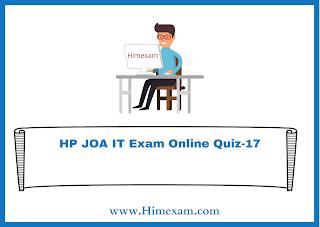 HP JOA IT Exam Online Quiz-17