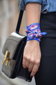 Cool Chic Style Fashion : Hermes Twilly as a Bracelet. - Today / Tomorrow Theyallhateus