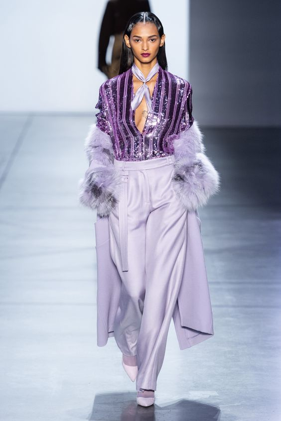 LILAC RUNWAY FASHION TREND
