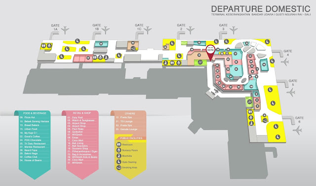 Males Megawe - Map Bali Airport
