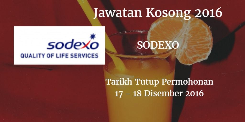 Jawatan Kosong SODEXO 17 - 18 Disember 2016