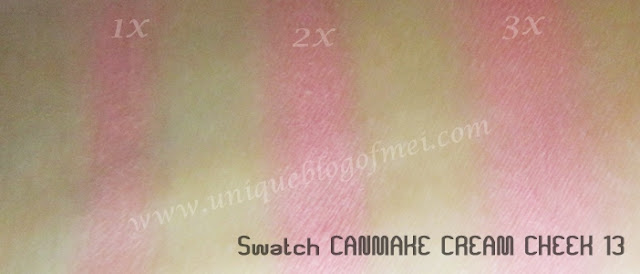 Canmake Cream Cheek Love Peach swatch