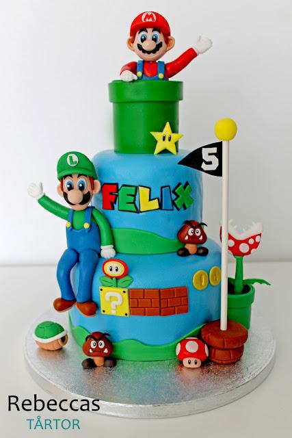Super Mário tårta