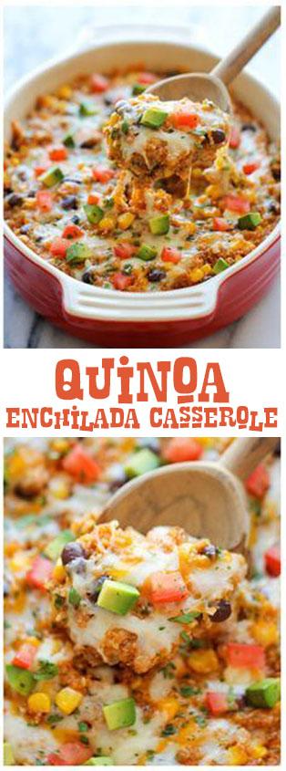 Quinoa Enchilada Casserole - Cook All Recipe