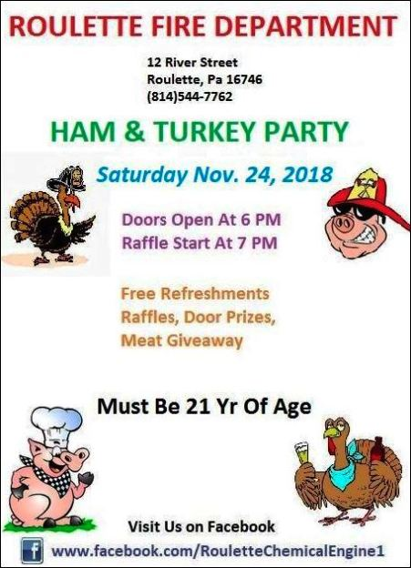 11-24 Ham & Turkey Party, Roulette VFD