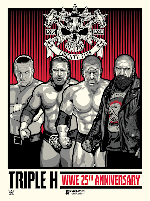 WWE Triple H 25th Anniversary Screen Print by Stolitron x Phenom Gallery