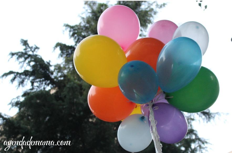 globos de helio en casa