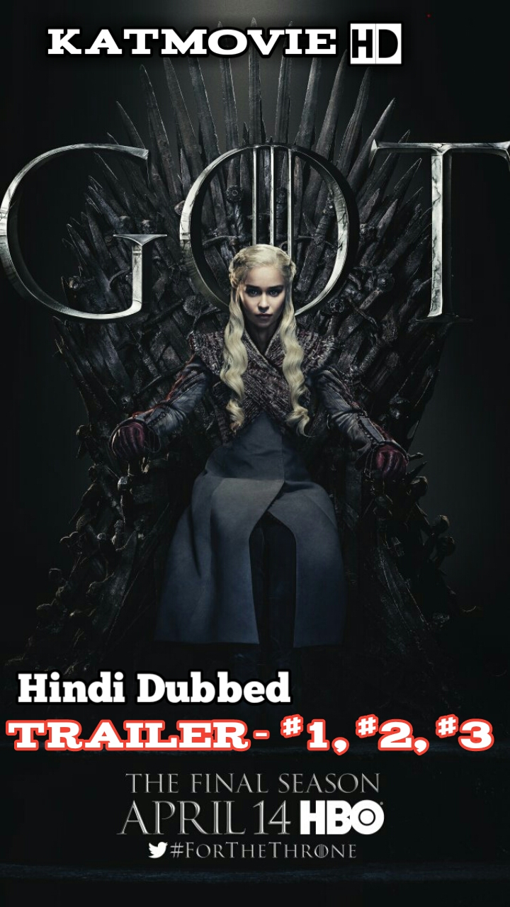 Game Of Thrones Season 8 ( Hindi  Trailer) 720p / 1080p HDRip [Hindi Dubbing] [GOT S8 Trailer]