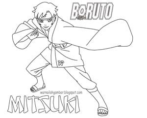 Mewarnai Mitsuki Boruto Next Generation Mewarnai Gambar