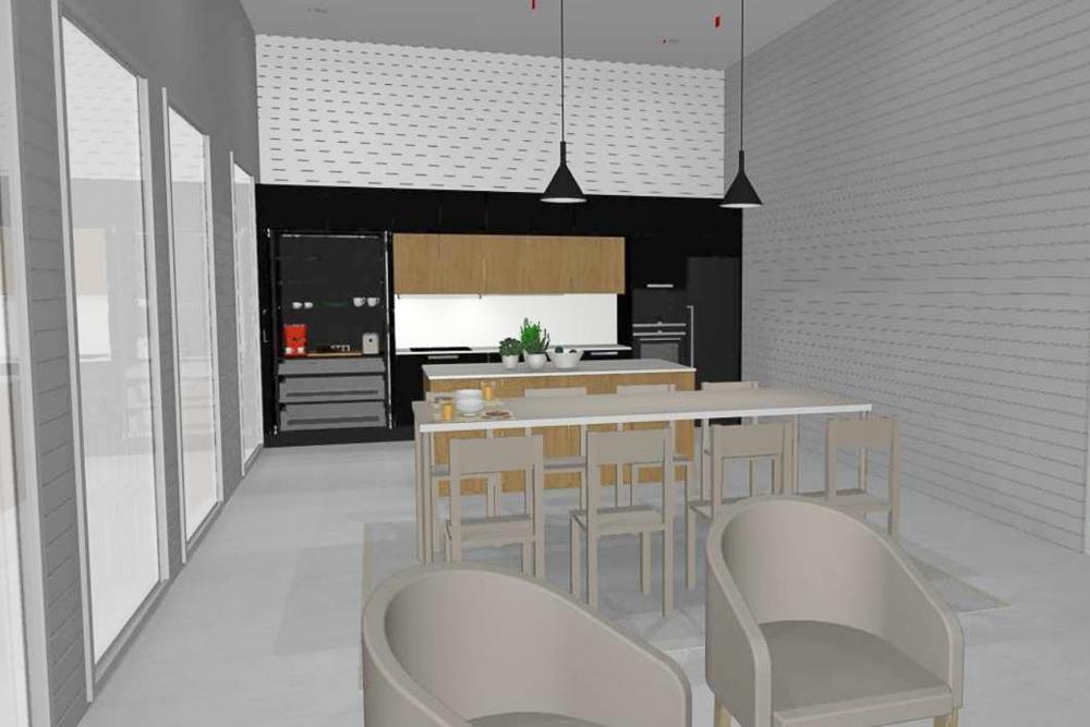 aamiaiskaappi puustellin keittiö musta keittiö