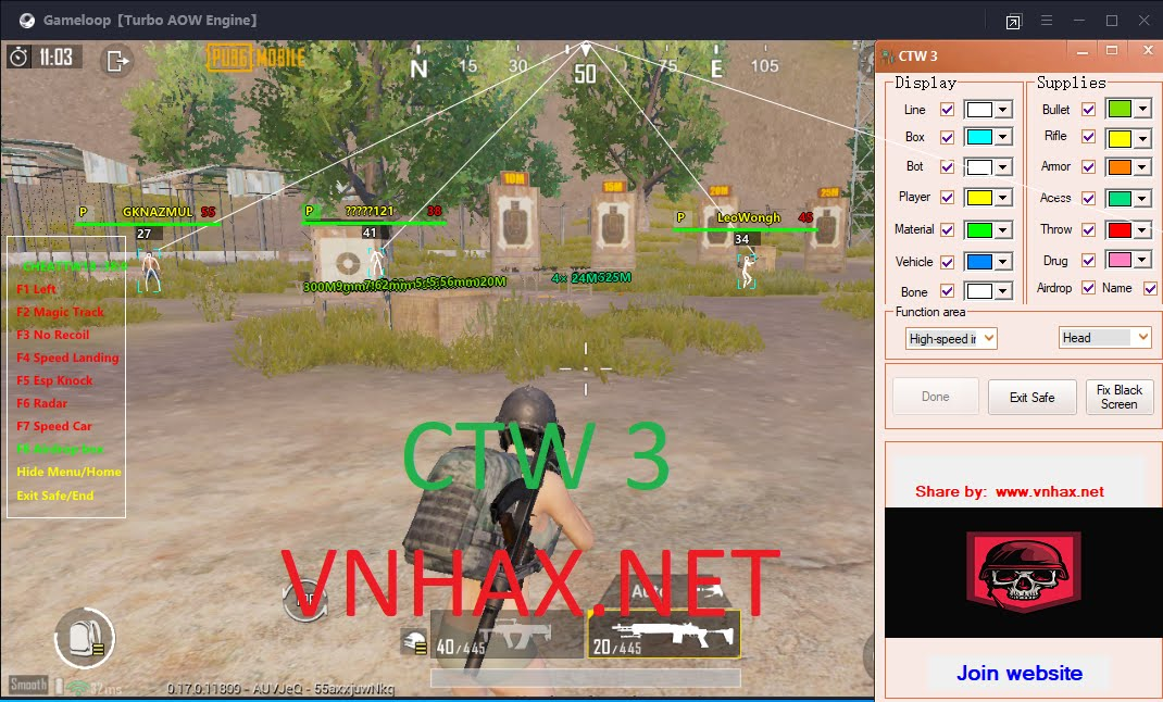 [Gameloop] CTW3 Hack Pubg Mobile Full CNC