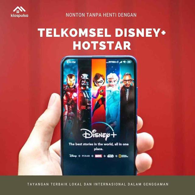 Harga Paket Data Telkomsel Disney Hotstar Kios Pulsa