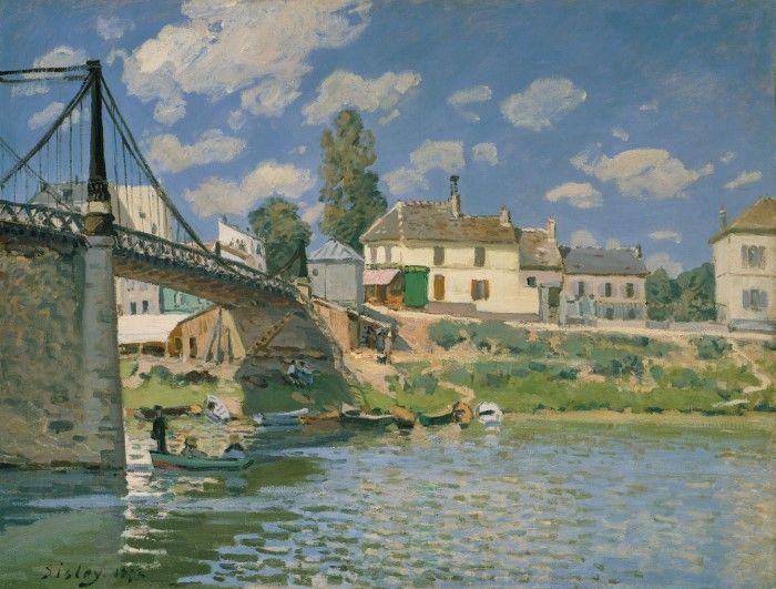Мост в Вильнёв-ла-Гарен, Альфред Сислей