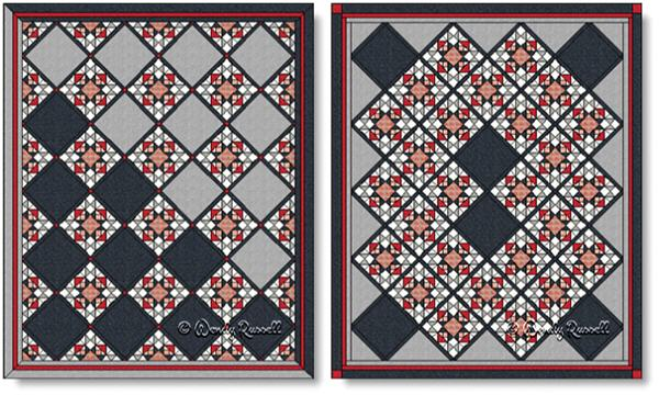 Quilts designed using the BEST OF ALL quilt block - images © Wendy Russell