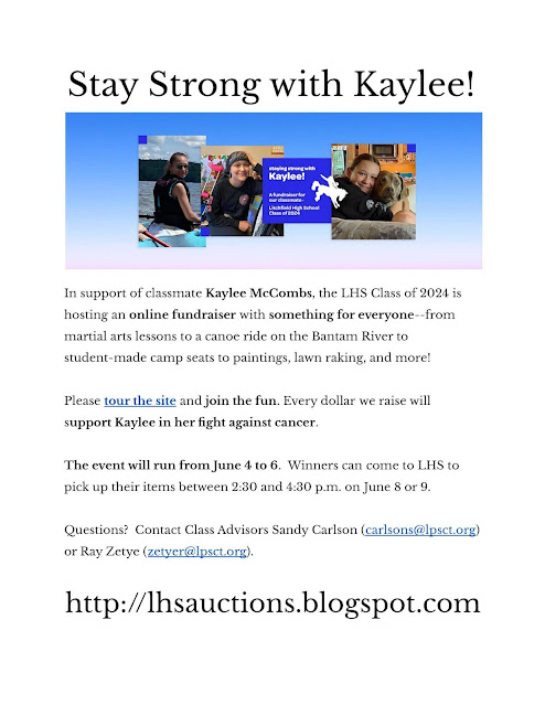 Kaylee McCombs, LHS Auctions, stay strong with Kaylee