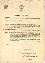 Lahirnya Surat Perintah 11 Maret 1966