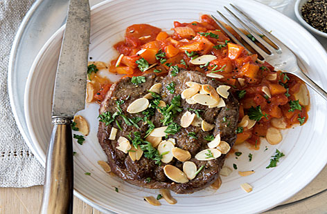 Lamb Lamb and more Lamb Recipe Ideas to Share! - Page 3 Roast-lamb-steaks-with-almonds-