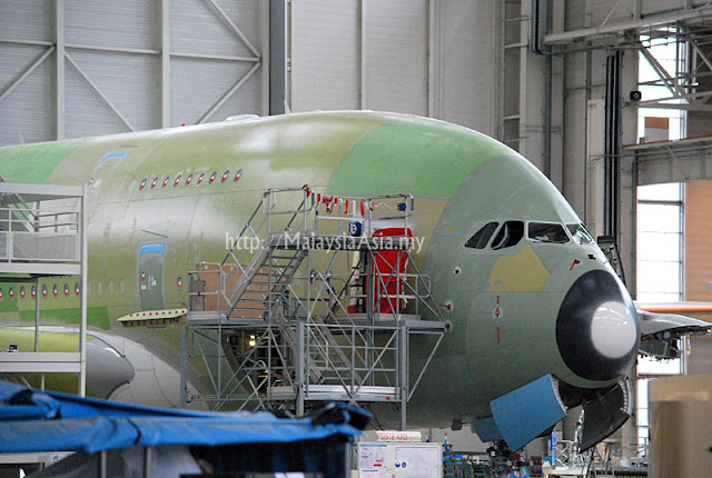 A380 Aircraft in Airbus Factory