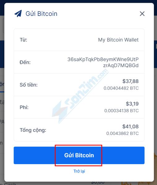 Cách gửi Bitcoin và các loại tiền điện tử khác trên Ví Blockchain - 3