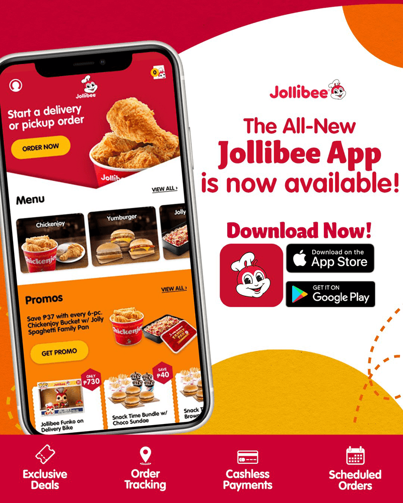 Features of the new Jollibee App