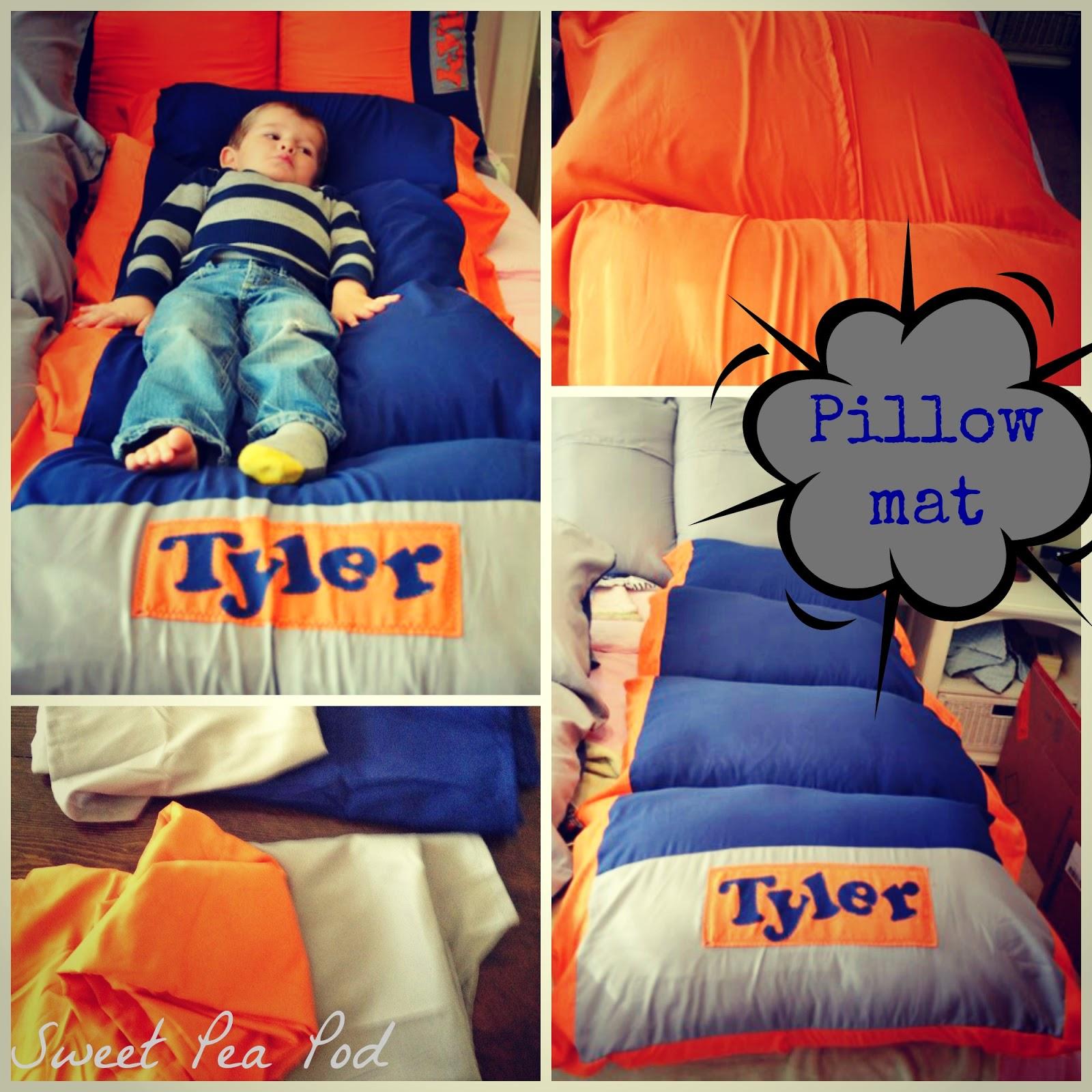 Sweet Pea Pod Pillow mats