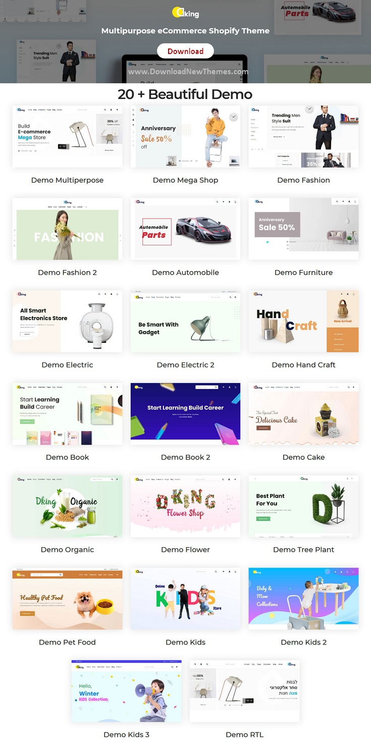 Multipurpose eCommerce Shopify Theme