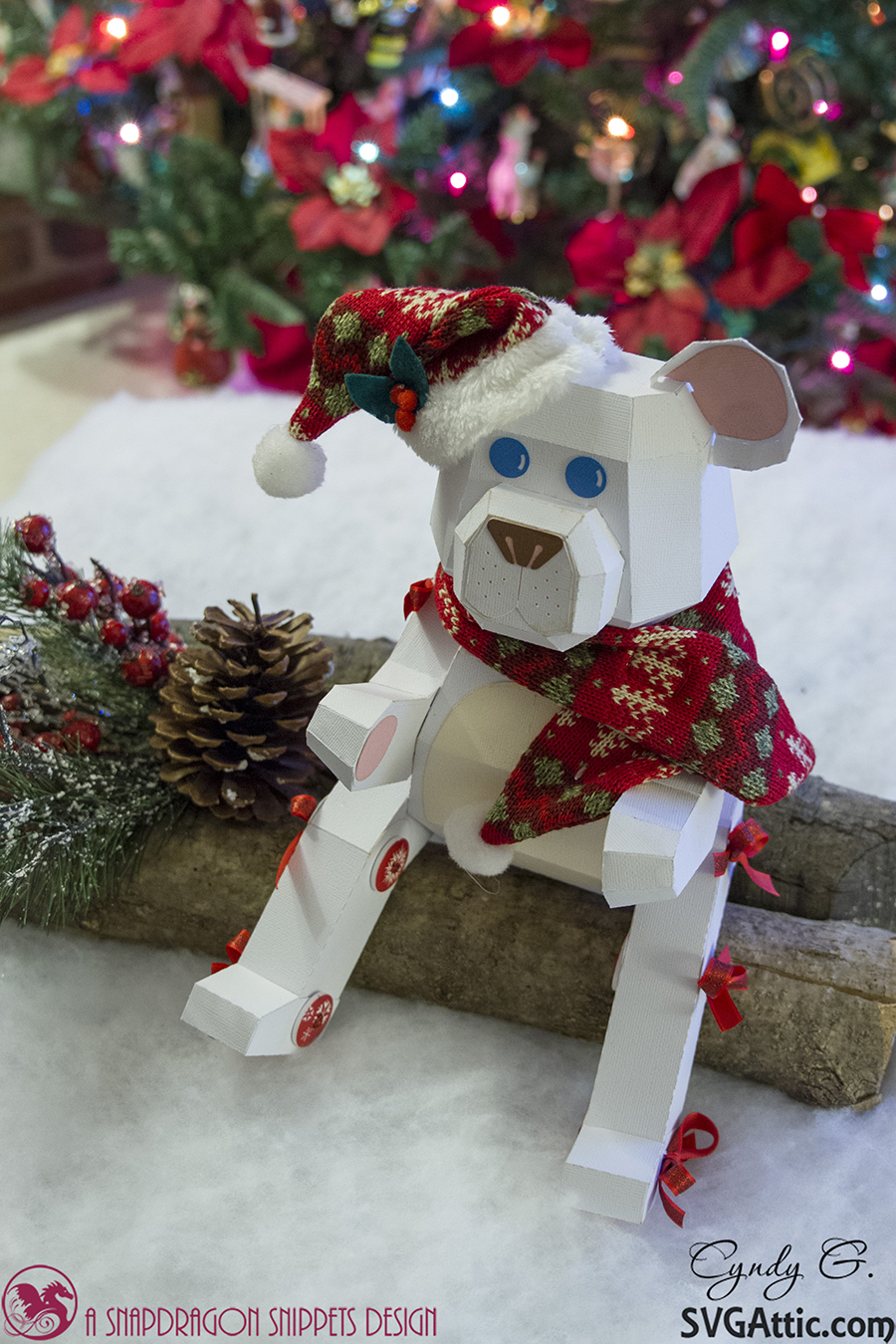 SVG Attic Blog Christmas Bear With Cyndy G