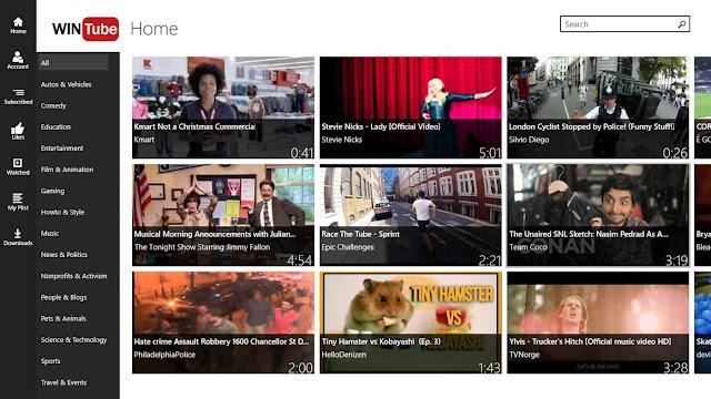WinTube for YouTube - أفضل تطبيقات يوتيوب في ويندوز 10