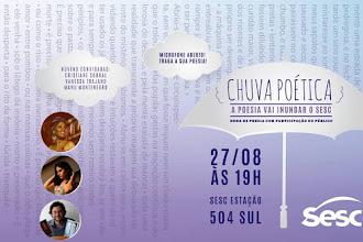 Chuva Poética - A poesia vai inundar o Sesc