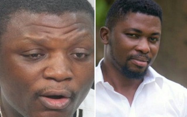 NDC National Organiser Kofi Adams (L) and A-Plus  (R)